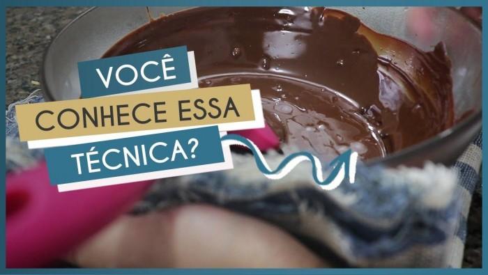 Como temperar chocolate sem pedra: Banho-Maria-Invertido