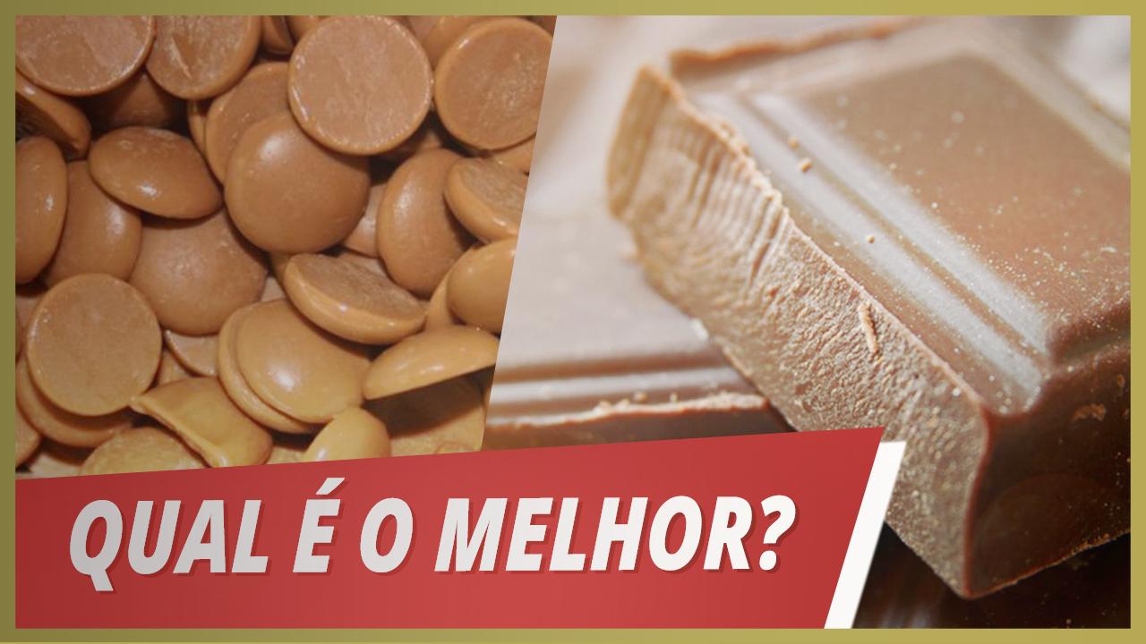 CHOCOLATE EM BARRA OU EM CALLETS (Gotas)